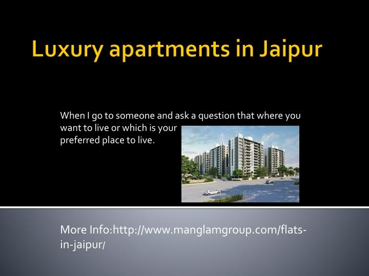 luxury apartments in jaipur n.