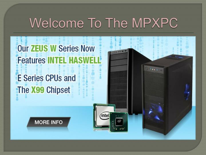 welcome to the mpxpc n.