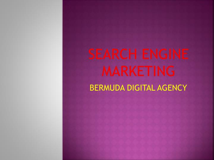 search engine marketing n.