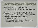 how processes are organized