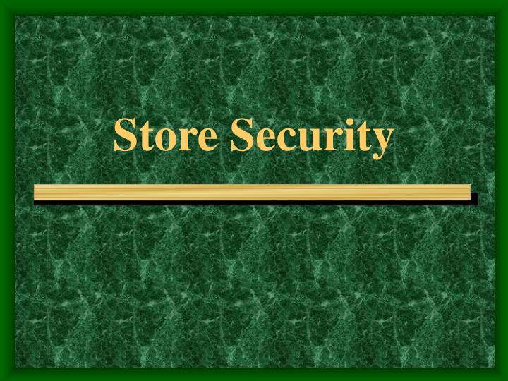 store security n.