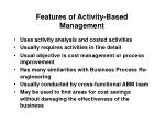 features of activity based management