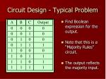 circuit design typical problem