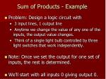 sum of products example