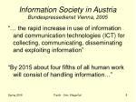 information society in austria bundespressedienst vienna 2005