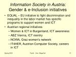 information society in austria gender e inclusion initiatives