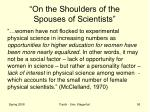 on the shoulders of the spouses of scientists9