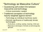 technology as masculine culture