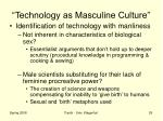 technology as masculine culture1
