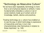 technology as masculine culture12