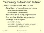technology as masculine culture3