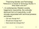 theorizing gender and technology reflections on gender technology studies in what state is the art5
