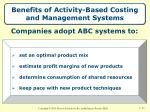 benefits of activity based costing and management systems