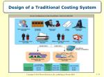 design of a traditional costing system