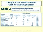 design of an activity based cost accounting system2