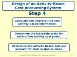 design of an activity based cost accounting system4