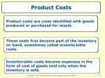 product costs