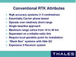 conventional rtk attributes