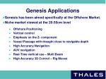 genesis applications