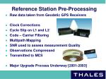 reference station pre processing