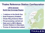 thales reference station configuration