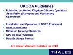 ukooa guidelines