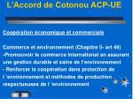 l accord de cotonou acp ue1