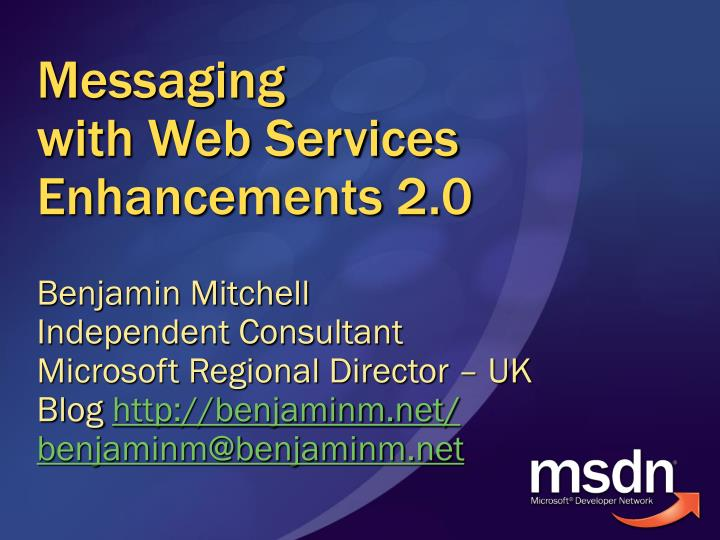 messaging with web services enhancements 2 0 n.