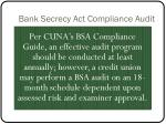 bank secrecy act compliance audit1