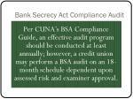 bank secrecy act compliance audit1