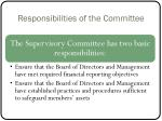 responsibilities of the committee