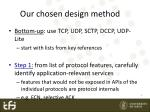 our chosen design method