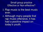 small group practice effective or non effective1