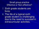 small group practice effective or non effective3