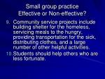 small group practice effective or non effective4