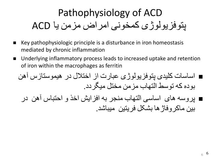Pathophysiology of ACD