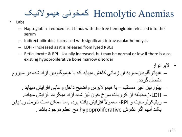 Hemolytic Anemias