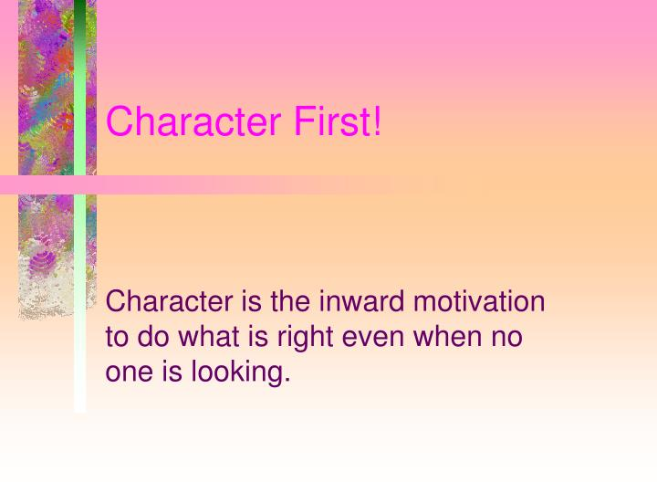 character first n.
