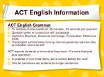 act english information