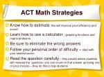 act math strategies
