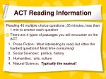 act reading information