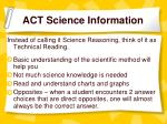 act science information