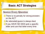 basic act strategies
