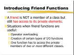 introducing friend functions