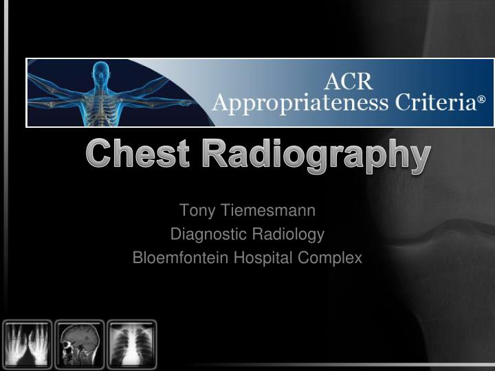 tony tiemesmann diagnostic radiology bloemfontein hospital complex n.