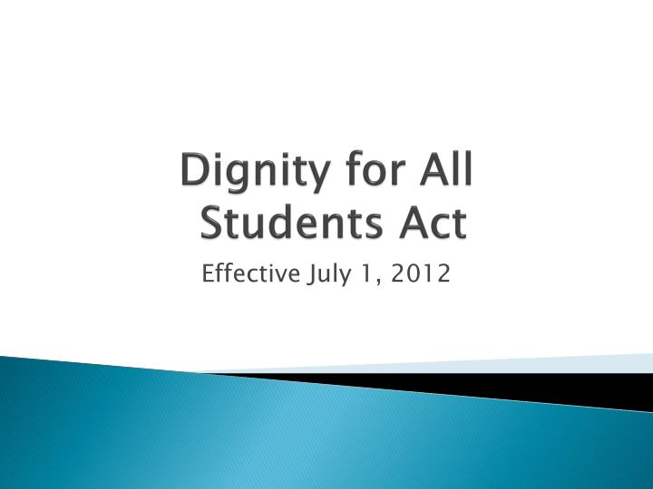 dignity for all students act n.