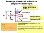 inwersja obsadze w laserze p przewodnikowym