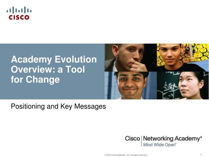 academy evolution overview a tool for change n.