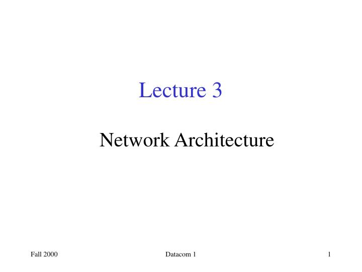 lecture 3 n.