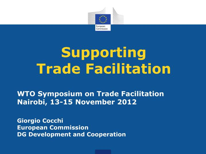 supporting trade facilitation n.